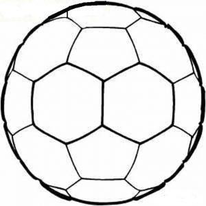 раскраска футбольный мяч распечатать бесплатно
