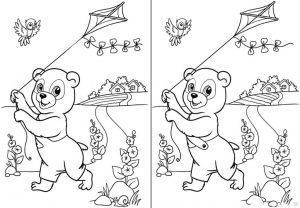 раскраска найди отличия для детей 5 6 лет распечатать