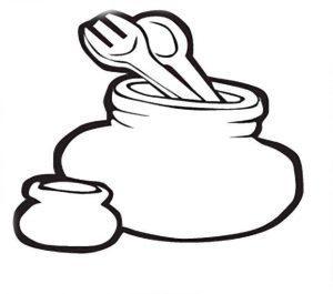 раскраска посуда для детей 3-4 лет