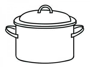 Раскраска Посуда для детей