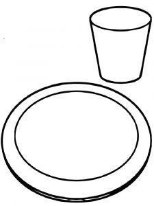 раскраска посуда для детей 3-4 лет распечатать бесплатно