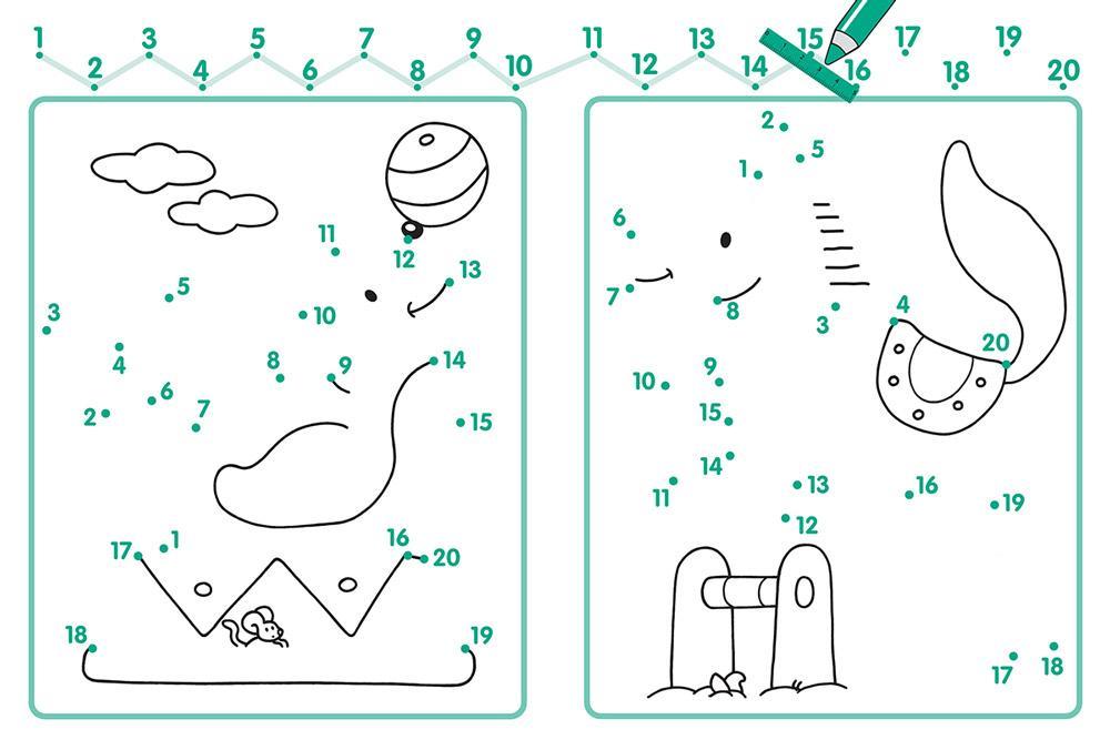 раскраска соедини точки по цифрам для детей распечатать