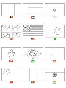 раскраски флаги стран мира распечатать бесплатно