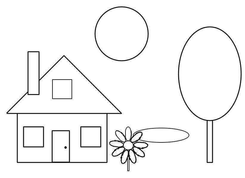 раскраска геометрические фигуры для детей 5 6 лет распечатать