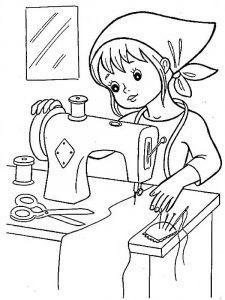 раскраски профессии для детей 5-6 лет распечатать бесплатно