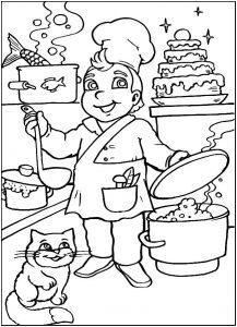 раскраски профессии для детей 6-7 лет распечатать бесплатно