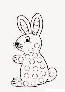 раскраска шаблоны для пальчикового рисования для детей
