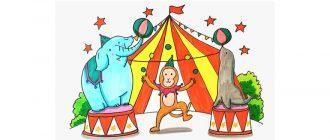 Раскраска Цирк распечатать бесплатно