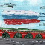 Раскраска Кремль распечатать бесплатно