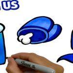 Раскраска Амонг Ас распечатать бесплатно