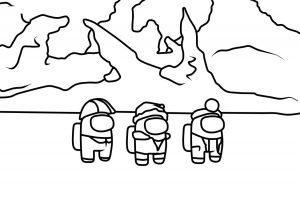 раскраска амонг ас персонажи
