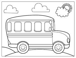 раскраска автобус для детей распечатать