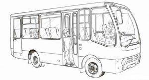автобус раскраски картинки