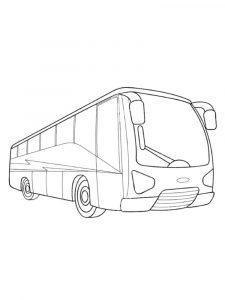 раскраска автобус распечатать бесплатно