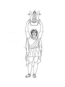 боги древней греции раскраска для детей распечатать