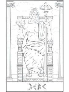 боги древней греции картинки раскраски