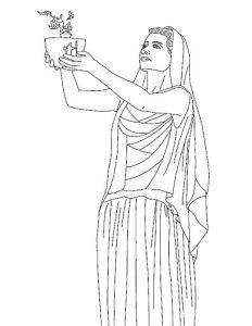раскраска боги древней Греции распечатать бесплатно