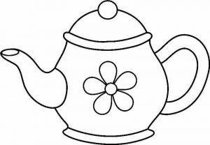 раскраска заварочный чайник распечатать бесплатно