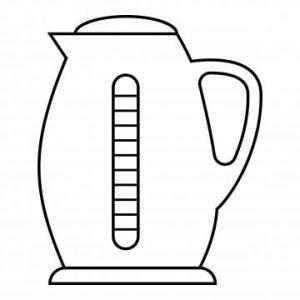 раскраска электрический чайник для детей распечатать