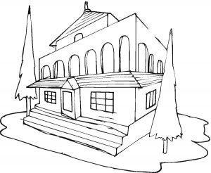 раскраска дом для детей распечатать