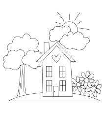 картинка раскраска дом