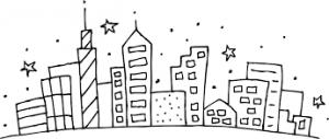 раскраска город распечатать бесплатно