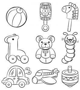 раскраска игрушки распечатать бесплатно