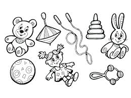 раскраска игрушки для детей распечатать