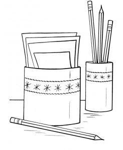 раскраска карандаш для детей распечатать