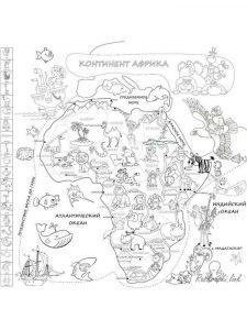 плакат раскраска карта мира распечатать