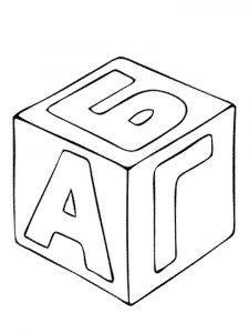 раскраска кубик распечатать бесплатно