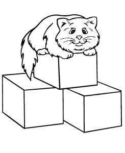 раскраска кубик для детей