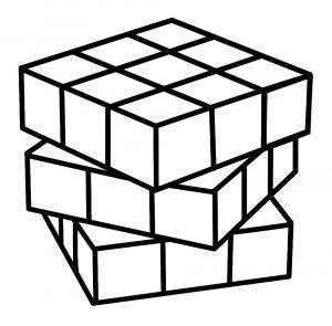 раскраска кубик рубик распечатать