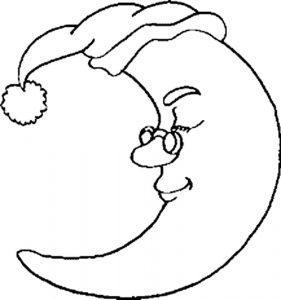 раскраска луна распечатать бесплатно