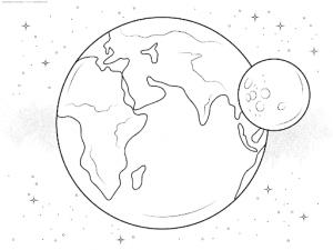 картинка планеты земля раскраска