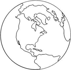 раскраска планета Земля распечатать бесплатно