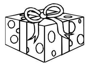 раскраска подарок для детей распечатать