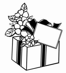 раскраска подарок распечатать бесплатно