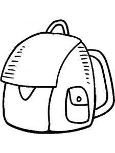 раскраска портфель для детей  распечатать бесплатно