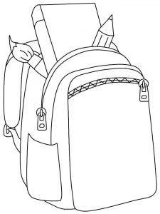 раскраска портфель для детей распечатать