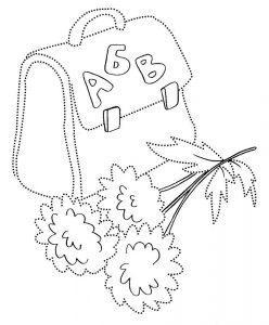 раскраска портфель школьный распечатать