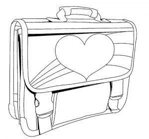 раскраска портфель распечатать бесплатно
