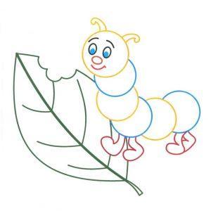 раскраски для детей с цветным контуром распечатать