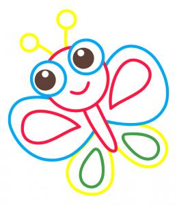 раскраски для малышей с цветным контуром