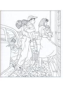 раскраска семья распечатать бесплатно