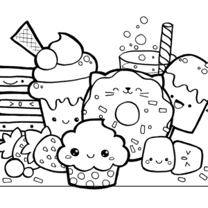 раскраски сладости для девочек распечатать