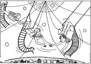 раскраска цирк для детей распечатать