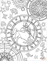 знаки зодиака раскраска для детей распечатать