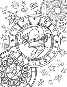раскраска знаки зодиака распечатать бесплатно