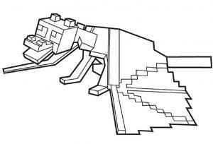 раскраска майнкрафт дракон распечатать